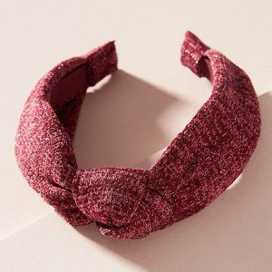 ANTHROPOLOGIE Mulberry Red Knotted Headband